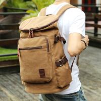 商务出差多功能双肩包大容量旅行背包男复古帆布包男士背包电脑包
