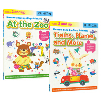 Kumon Step-by-Step Stickers Zoo & Trains Planes 公文式教育 幼儿英语启