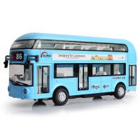 天鹰城市空调大巴合金伦敦双层巴士汽车模型儿童回力声光玩具