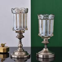 欧式玻璃花瓶摆件餐桌客厅 插花透明摆件大号家居饰品 装饰摆设