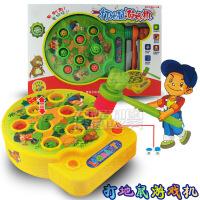 儿童益智电动音乐打地鼠玩具 大号敲地鼠游戏机玩具