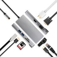 Type-c扩展坞USB-C转接头HDMI线VGA笔记本USB连网线PD雷电3苹果联想