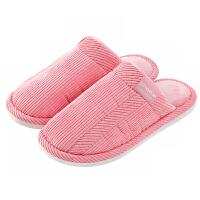 棉拖鞋冬季棉拖鞋女透气柔软居家情侣拖鞋男防滑地板保暖毛毛拖鞋