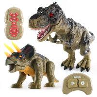 恐��玩具��舆b控���F霸王��仿真�游��走的下蛋恐���和�玩具