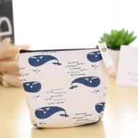 博威厂家直销韩版清新帆布零钱包帆布花卉布艺短款钥匙包钱包批发