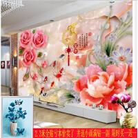 新款家和富贵十字绣牡丹玫瑰钻石画满钻石绣客厅5d砖石秀圆钻