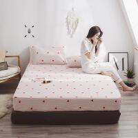 纯棉床笠单件全棉加厚席梦思保护套床垫套防滑防尘罩1.2/1.5m/1.8米床