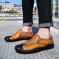 【头层牛皮 新款定制】男士休闲鞋韩版运动板鞋商务正装皮鞋男潮流豆豆鞋英伦鞋子男
