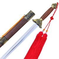 桃木剑表演剑龙头剑太极剑软剑宝剑晨练剑太极剑女不锈钢太极剑