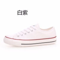2019秋帆布鞋子女学生韩版平底系带低帮小白鞋潮学生板鞋 ulzzang 34 女款