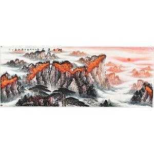 当代实力派画家赵弘小六尺山水画 gs01065