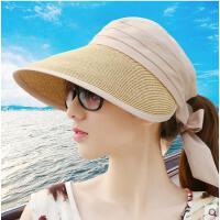 沙滩帽女韩版潮防紫外线帽子防晒帽大沿可折叠遮阳帽太阳帽可礼品卡支付