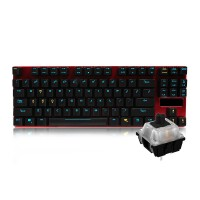 至乐 E3 机械键盘合金版 黑轴青轴(有线87键电竞游戏 宏编程吃鸡绝地求生 笔记本电脑家用办公)