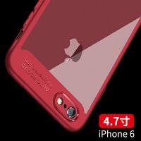 �O果6手�C��iphone6plus硅�z套6防摔6plus新6s男女款puls 6/6S �t色 【送�化膜】