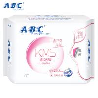 ABC夜用纤薄280mm棉柔排湿表层卫生巾8片(含KMS健康配方)