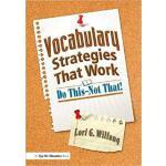 【预订】Vocabulary Strategies That Work 9781138129603