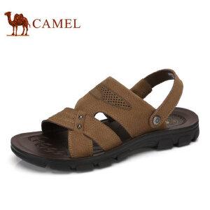 camel骆驼男鞋  夏季新款凉鞋 沙滩鞋子男士透气牛皮露趾凉鞋