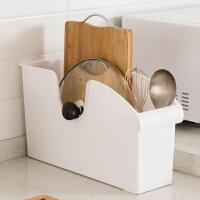 【满减】欧润哲 带滑轮塑料收纳盒 厨房杂物锅具调味瓶收纳篮手拉式