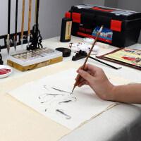 金尖国画工具套装中国画写意美术绘画水墨画工笔画山水牡丹画成人毛笔初学者小学生入门颜料12色18色24色36色
