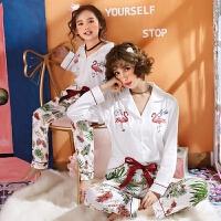 儿童睡衣女童纯棉长袖亲子装小女孩家居服宝宝套装