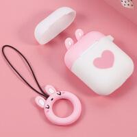 适用于苹果Airpods2保护套可爱无线蓝牙耳机收纳盒硅胶防丢套专用