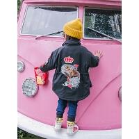 儿童中长款棉衣秋冬男童小童棉衣宝宝童装外套