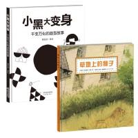 *畅销书籍* 新蕾精品绘本馆――小黑大变身 千变万化的造型故事+新蕾精品绘本馆――草地上的狮子 一个在成人思维中完全不