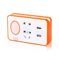 【新品上市】 带USB充电小夜灯 创意无线家用插座转换器多功能接口插线板排插