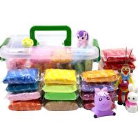 24色轻粘土儿童彩泥雪花太空泥纸粘土玩具橡皮泥套装