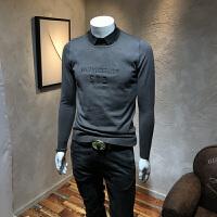 男针织衫新款青年韩版修身衬衫领假两件套头潮流毛衣带领线衫男潮