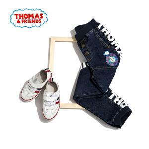 【3件3折到手价:77.7】托马斯童装男童秋装春冬新款纯棉加厚牛仔裤中大童牛仔裤长裤