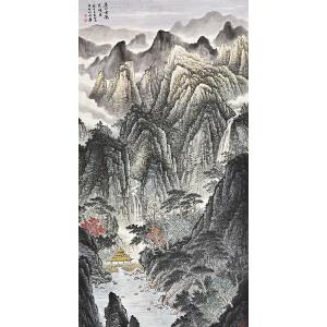 当代著名画家  张哲礼苍山云影gs01426-1