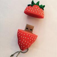 新品32g卡通u盘迷你水果草莓32G创意个性可爱女生礼品两用优盘