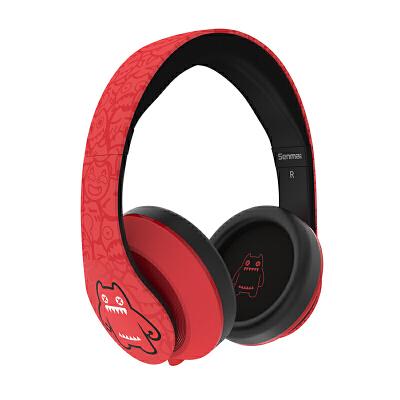 魔鬼猫音魔耳机头戴式 电脑游戏音乐耳麦手机耳机重低音带话筒头戴式耳机 手机电脑游 耳麦 舒适透气