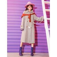 毛呢外套女秋冬季学生中长款韩版流行新款斗篷赫本风呢子大衣