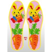 儿童棉布针孔鞋垫手工十字绣鞋垫半成品印花男女卡通吸汗透气
