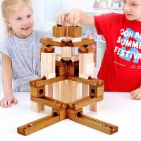 云霄飞车太空轨道滚珠积木拼装玩具益智重力迷宫・