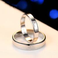 925银四叶草情侣戒指一对男女开口对戒韩版创意戒指环免费刻字