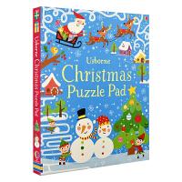 【首页抢券300-100】Usborne原版英文 Christmas Puzzle Pad 全彩圣诞活动解谜书 进口