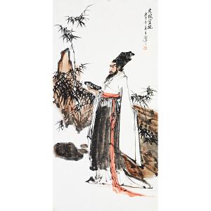 伍启中《东坡赏砚》国家一级美术师