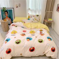 20191106094325181儿童床上四件套纯棉女孩男孩学生宿舍单人床单床笠款三件套件0.9/1.0/1.2/1.