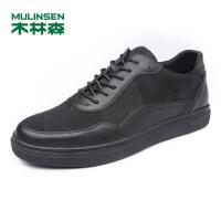 木林森男鞋   新款男士日常休闲鞋  舒适百搭耐磨男板鞋05177337