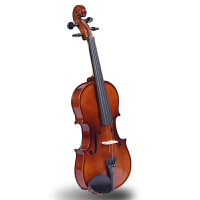 凤灵手工乌木实板小提琴FLV1114儿童成人初学者 赠小提琴教程教材书,塑料肩托,备用琴弦,四管调音器、琴,琴盒,弓,