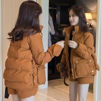 冬季棉袄2018新款羽绒套装外套加厚韩版面包服女短款ins棉衣