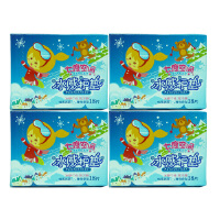 七度空间绵柔表层超薄冰感护垫QDAB818薄荷香型4盒155mm姨妈巾包邮