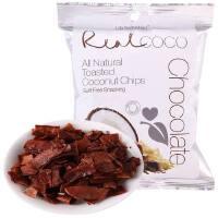 【海外购】泰国进口 瑞欧RealCoco巧克力味椰子干40g*3袋 限时买3袋送1袋