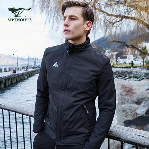 七匹狼户外运动夹克 春季新款立领夹克男装短款时尚休闲潮外套