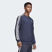 adidas阿迪达斯2018新款男子运动服休闲卫衣圆领针织套衫S98803