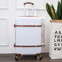 2018新款品牌复古旅行箱韩版糖果色20寸学生拉杆箱万向轮 时尚女士手提拉链箱
