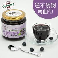 【买2瓶送勺】 Socona蜂蜜蓝莓茶500g韩国风味水果茶蜜炼酱冲饮品